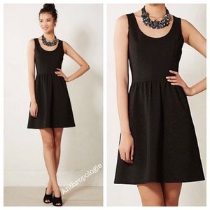 Perfect Anthropologie Black Dress